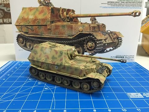 Building the Tamiya 1/35 Elefant with zimmerit