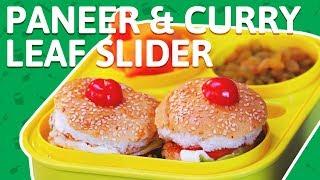 Paneer Burger/Slider Recipe   Tasty Paneer Burger   Paneer Tikki - Tiffin Recipe for kids