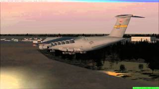 FSX C 5 Galaxy Landing @ Domodedovo, Moscow, Russia
