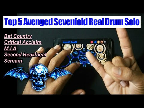 Top 5 Avenged Sevenfold - Guitar Solo Vs Real Drum Cover