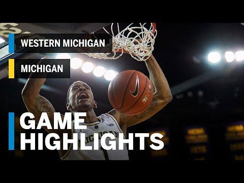 highlights:-western-michigan-at-michigan-|-big-ten-basketball