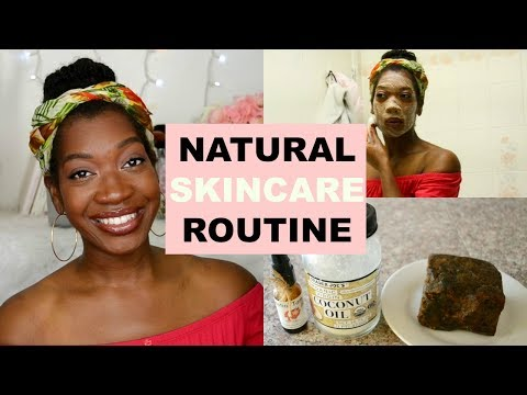 Everyday Natural Skincare Routine | How To Fade Acne Scars with African Black Soap and Tamanu Oil