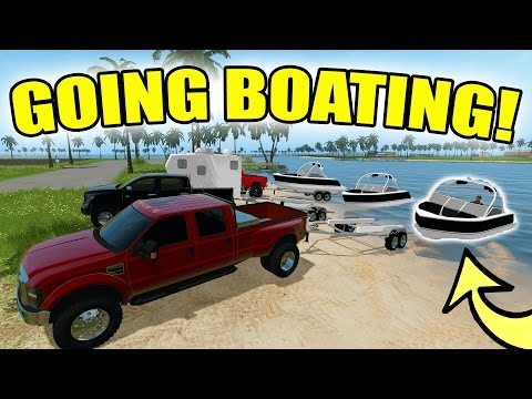 FARMING SIMULATOR 2017 | GOING BOATING! | TOURING THE OCEAN | MULTIPLAYER