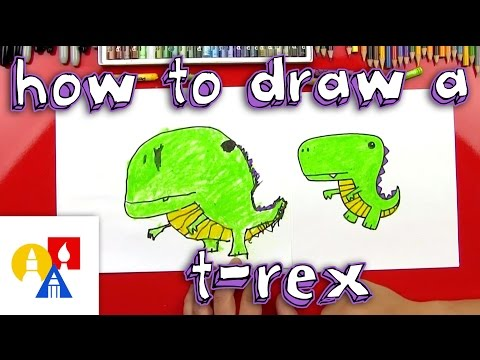 How To Draw A Cartoon T-Rex
