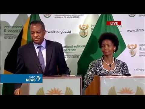 Pretoria: Nigerian FM Onyeama and South African FM Nkoana-Mashabane Briefs Media. SABC: 13-03-17