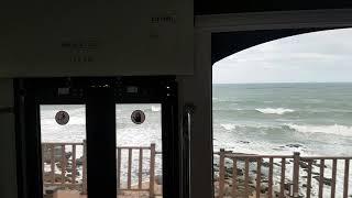 해운대 바다열차 다릿돌 전망대역 도착