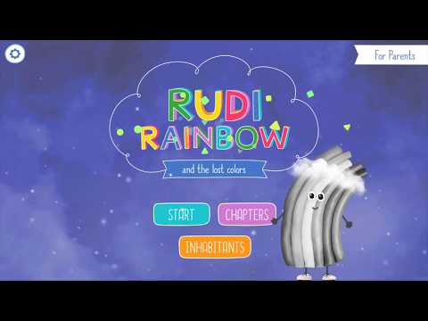 Cute app for kids: Rudi Rainbow 🌈 children's book with mini games (Android Trailer)