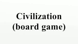 Civilization (board game)
