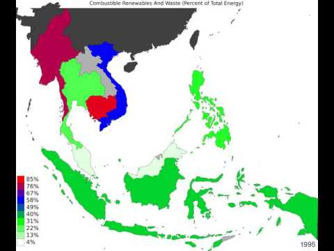 South East Asia - Combustible Renewables And Waste - Time Lapse