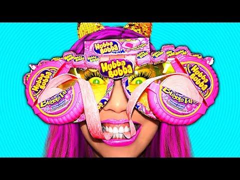 Hubba Bubba Prank & Funny Battle w/ DIY Hubba Bubba Sunglasses (CC Available)