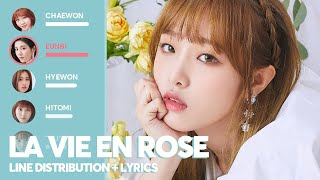 IZ*ONE - La Vie En Rose (Line Distribution + Lyrics)
