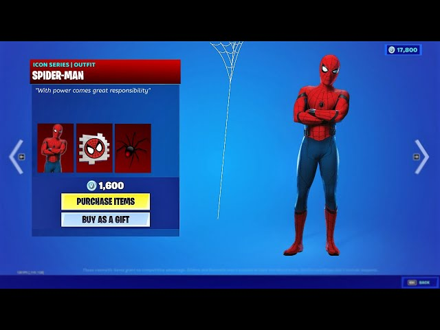 Fortnite Item Shop Live  - NEW SPIDERMAN SKIN! (Fortnite Item Shop Update)
