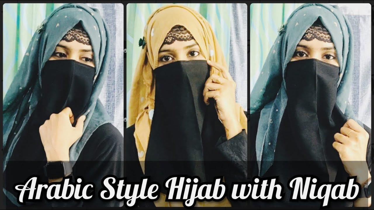 3 Arabic Style Hijab With Niqab Tricks And Hacks For Niqab Full Coverage Hijabs Using Niqab Youtube