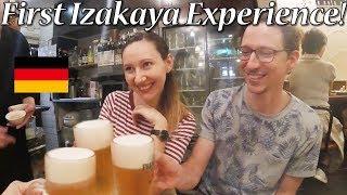 ドイツ人カップル!居酒屋で焼き鳥、わさび、梅干し!/ First Izakaya Experience in Tokyo!