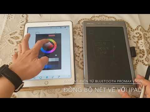 Bảng viết vẽ ghi chú kết nối  Bluetooth truyền dữ liệu qua Android, iPhone, iPad Promax Vson WP10