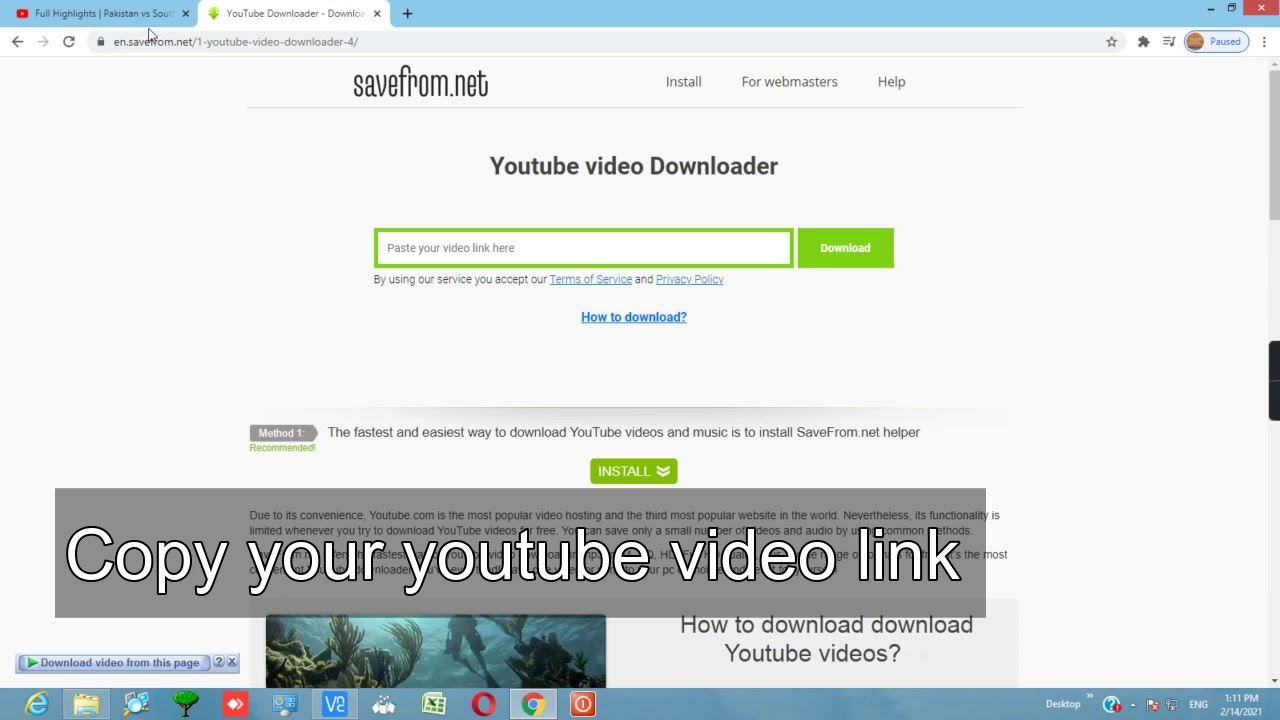 How to download youtube video in laptop or computer - YouTube