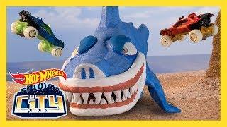SEISMIC SHARK ATTACK! | Hot Wheels City: Season 2 | Episode 2