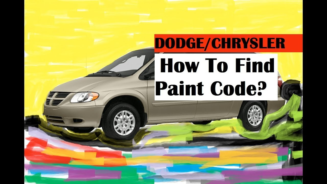 HOW TO FIND PAINT CODE ON DODGE/CHRYSLER