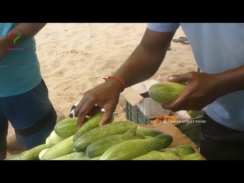 cucumber-salad-||-fresh-&-natural-healthy-street-food-cucumber-@-chennai-marina-beach
