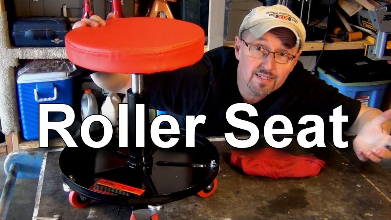 Harbor Freight Pneumatic Roller Seat Youtube