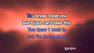 Karaoke In Too Deep - Genesis *
