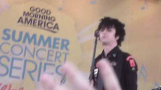 Green Day - During commercials @ Good Morning America, NYC