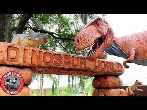 Real Life Jurassic World - Exploring Dinosaur World Plant City, Florida! WOM 360