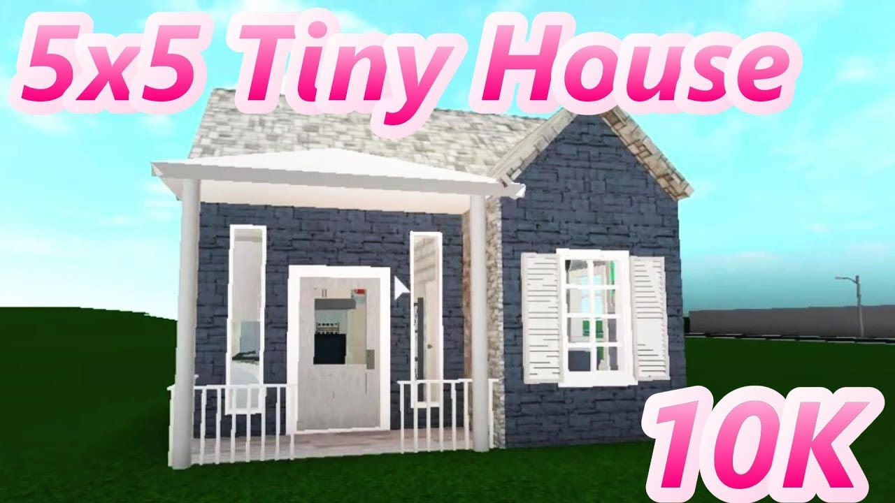 Bloxburg 5x5 Cheap Tiny House 10k Youtube
