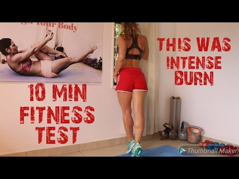 10 MIN FULL BODY FITNESS TEST | HIGH INTENSITY INTERVAL TRAINING | BODY WEIGHT ONLY | HOME WORKOUT