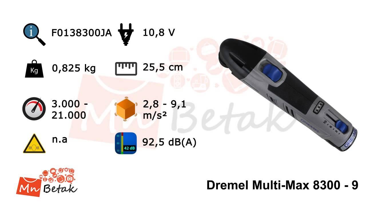 Dremel Multi-Max 8300 - 9 - YouTube