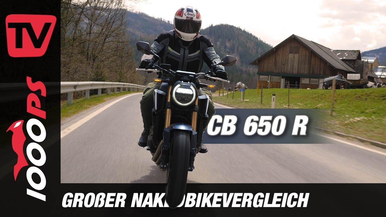 Honda CB650R 2021 im Vergleich der Mittelklasse Nakeds: frisches Update - genug um mitzuhalten?