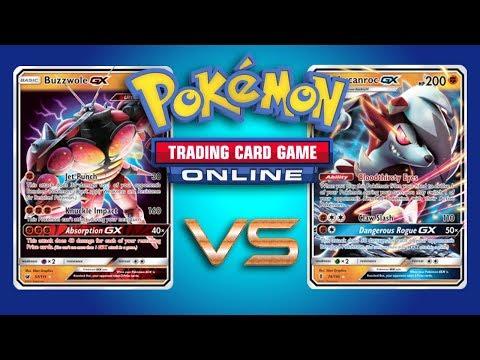 Buzzwole GX / Garbodor vs Golisopod GX and Buzzwole GX / Lycanroc GX - Pokemon TCG Online Gameplay