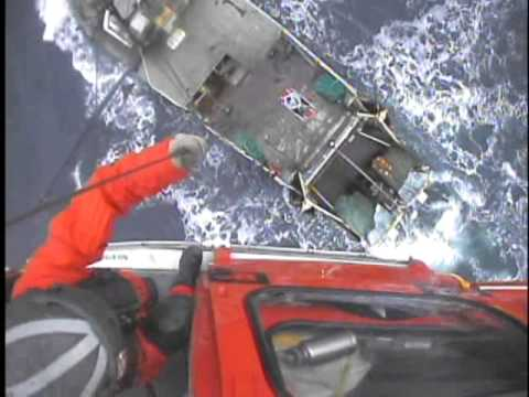 Coast Guard Helicopter Rescues Sick Fisherman 90 Miles Offshore