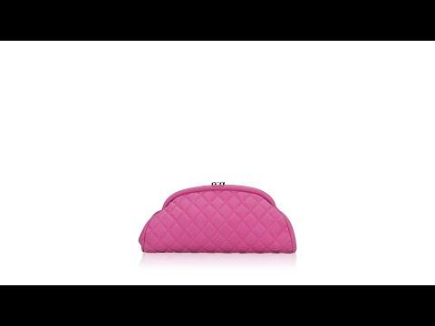 Chanel Matte Caviar Timeless Clutch Pink