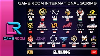 GAME ROOM INTERNATIONAL SCRIMS WITH PMSC TEAMS ft - RRQ , IND  , BTR , NOVA | GFAAD GAMING