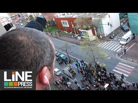 Les postiers occupent le siège de La Poste / Issy-les-Moulineaux (92) - France 05 avril 2018