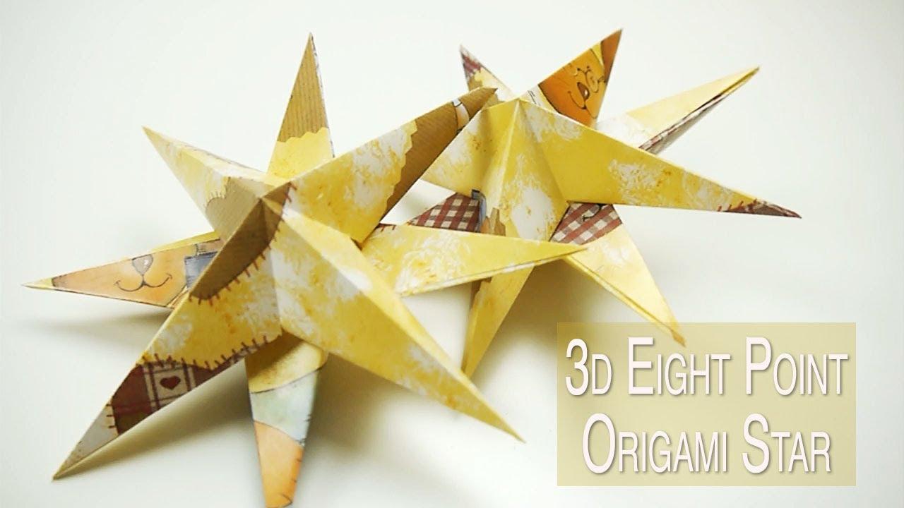 3d origami starfish ornament nekkoart youtube