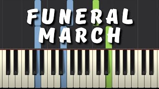 Easy Piano Tutorial: Funeral March by Chopin (simplified) with free sheet music