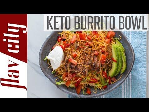 Low Carb Keto Burrito Bowl Meal Prep