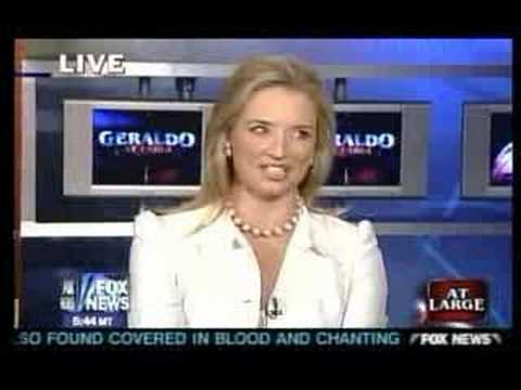 Female news caster stripper