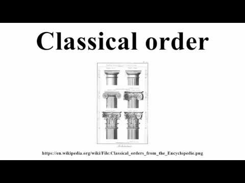Classical order