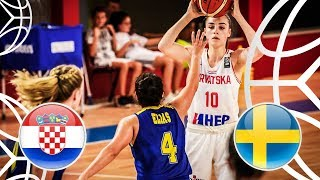 Croatia v Sweden - Full Game - FIBA U18 Women