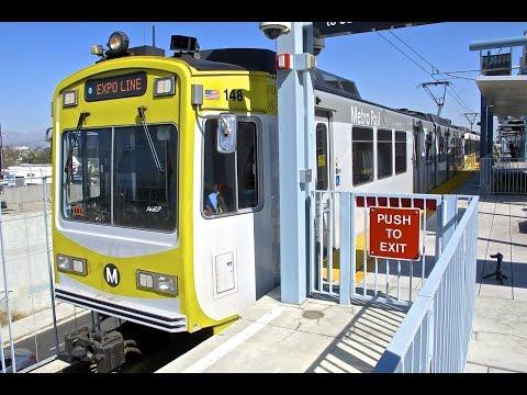 Metro Rail - Expo Line in Los Angeles