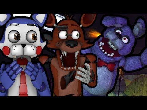 CANDY AND FOXY REACT TO: [SFM FNAF] Bonnie's Shocking Job