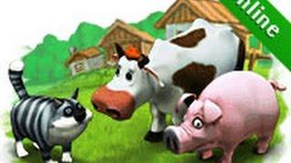Весёлая ферма 15, игра как мультфильм, уход за животными, для детей
