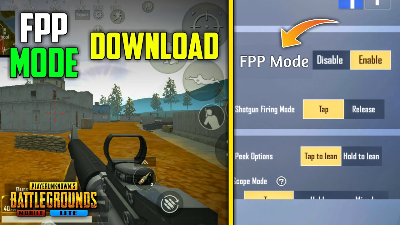 How to Play New FPP Mode in PUBG Mobile Lite   Download FPP Mode