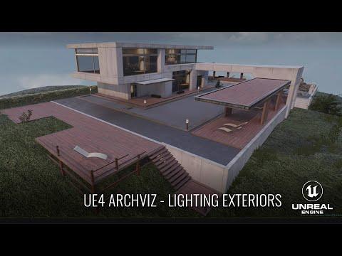 UE4 - ArchViz Rendering (Exteriors) Walk-through - YouTube