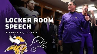 Mike Zimmer's Postgame Locker Room Speech After Beating The Detroit Lions