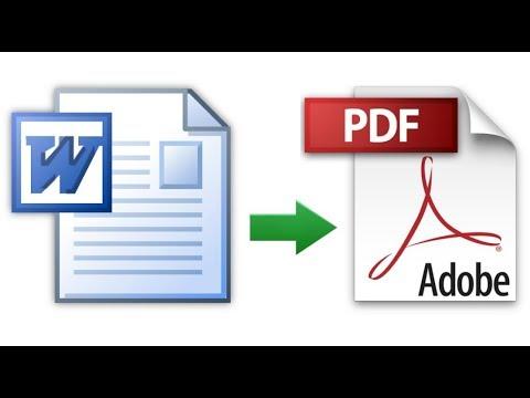 Cara Mengubah File Word Ke Pdf Youtube