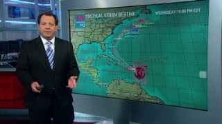 Tropical Storm Bertha churns past islands